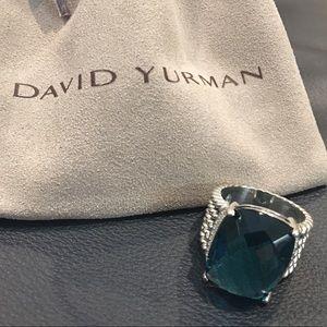 Auth. David Yurman 20 x 15mm Wheaton Topaz Ring